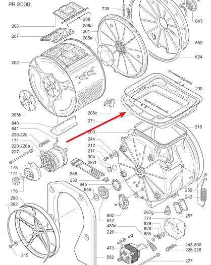 R paration d une machine laver le linge candy cts 81tv - Enlever moisissure machine a laver ...