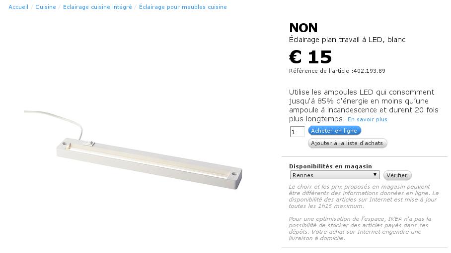 modification d une lampe led ikea non pour fonctionner en 12v equinoxefr. Black Bedroom Furniture Sets. Home Design Ideas