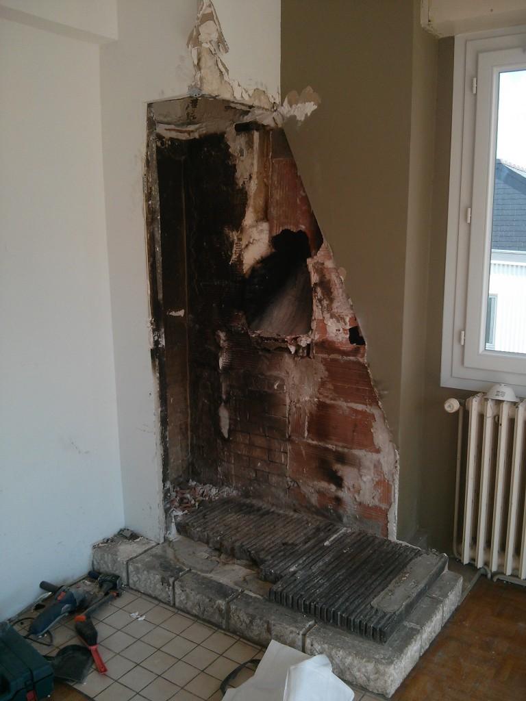 Destruction cheminée